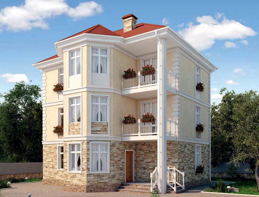 проект дома из газобетона AS-2247 строительство под ключ за 3 620 000 рублей