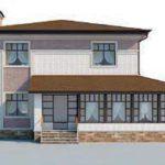 проект дома AS-2257 вид спереди