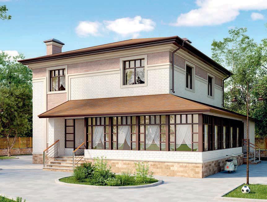 проект дома из газобетона AS-2257 строительство под ключ за 3 140 000 рублей