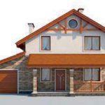 проект дома AS-2258 вид спереди