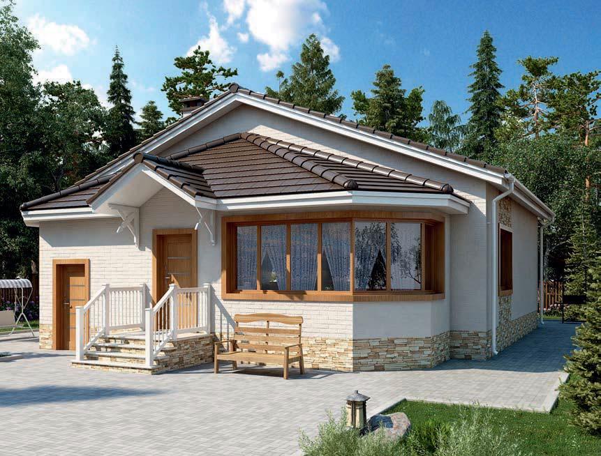 проект дома из газобетона AS-2259 строительство под ключ за 3 000 000 рублей