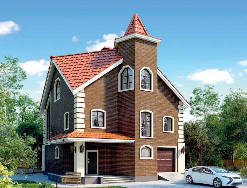проект дома из газобетона AS-2262 строительство под ключ за 4 190 000 рублей