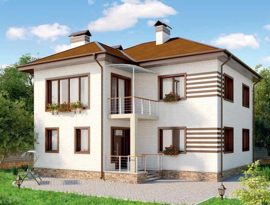 проект дома из газобетона AS-2263 строительство под ключ за 4 270 000 рублей