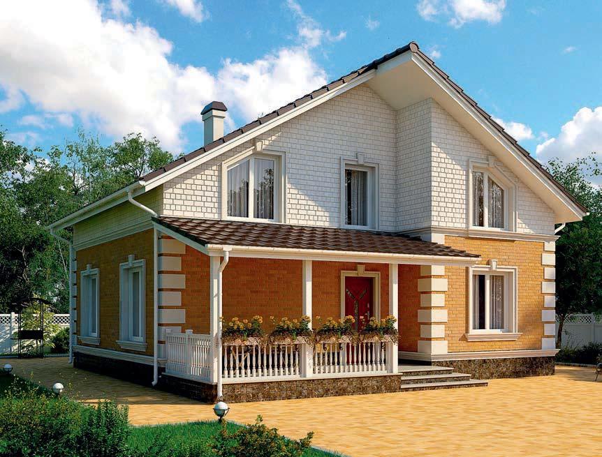 проект дома из газобетона AS-2274 строительство под ключ за 2 290 000 рублей