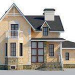проект дома AS-2275 вид спереди