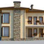 проект дома AS-2276 вид спереди