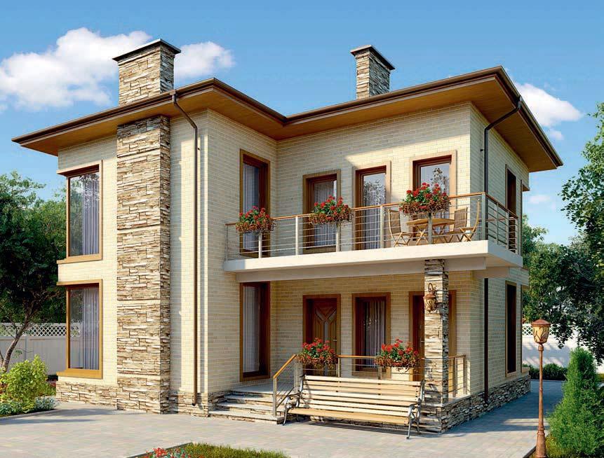 проект дома из газобетона AS-2276 строительство под ключ за 2 550 000 рублей