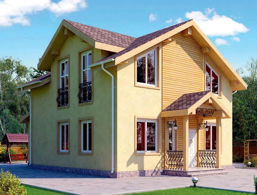 проект дома из газобетона AS-2277 строительство под ключ за 2 550 000 рублей