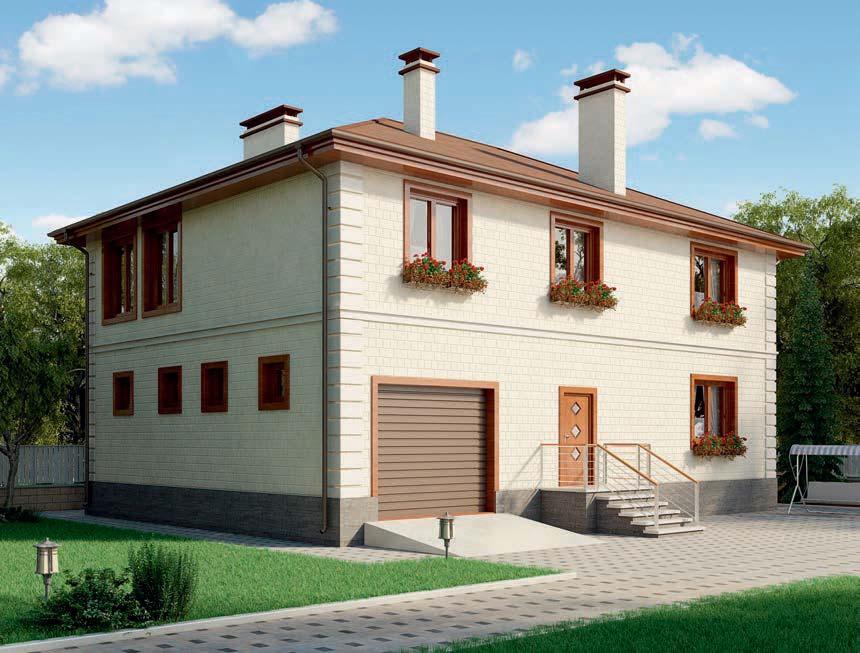 проект дома из газобетона AS-2278 строительство под ключ за 5 240 000 рублей