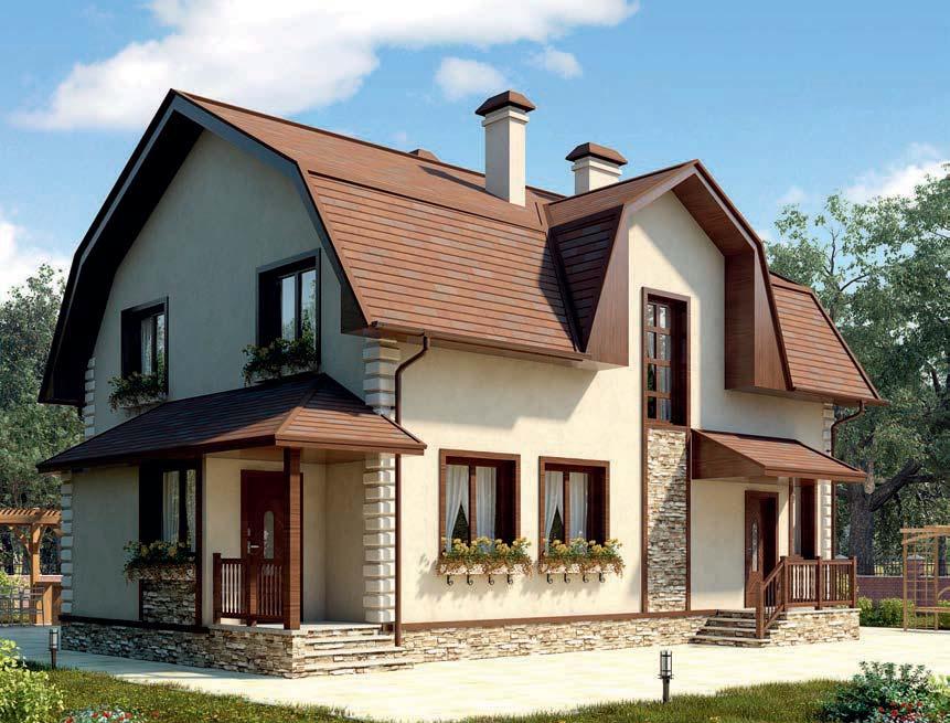 проект дома из газобетона AS-2281 строительство под ключ за 3 190 000 рублей