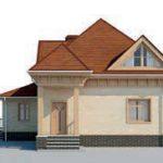 проект дома AS-2282 вид спереди