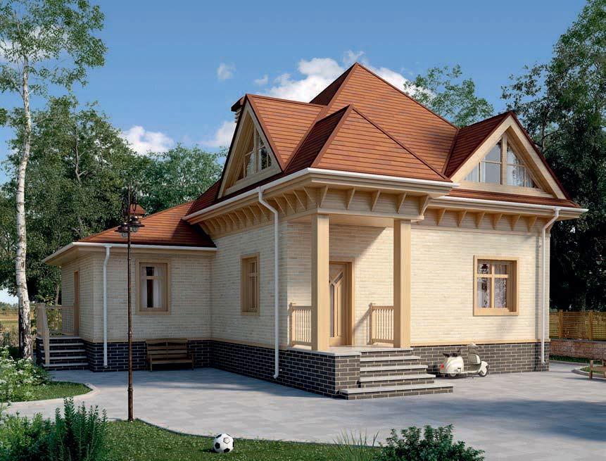 проект дома из газобетона AS-2282 строительство под ключ за 2 280 000 рублей