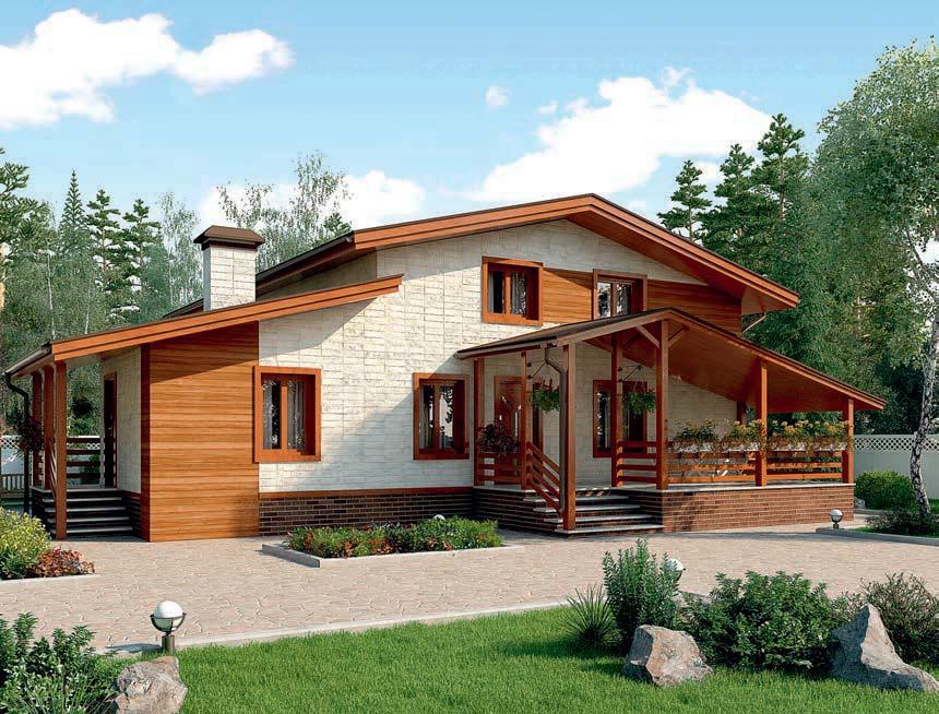 проект дома из газобетона AS-2284 строительство под ключ за 3 020 000 рублей
