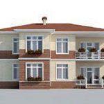 проект дома AS-2291 вид сзади