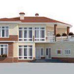 проект дома AS-2291 вид спереди