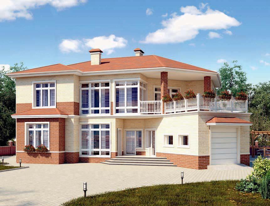 проект дома из газобетона AS-2291 строительство под ключ за 3 930 000 рублей