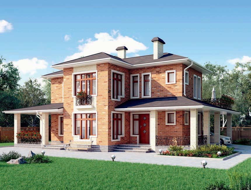 проект дома из газобетона AS-2292 строительство под ключ за 3 490 000 рублей