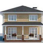 проект дома AS-2294 вид сзади