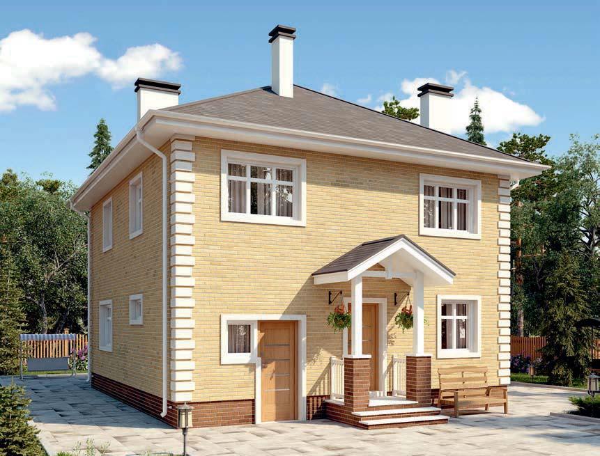 проект дома из газобетона AS-2294 строительство под ключ за 2 550 000 рублей