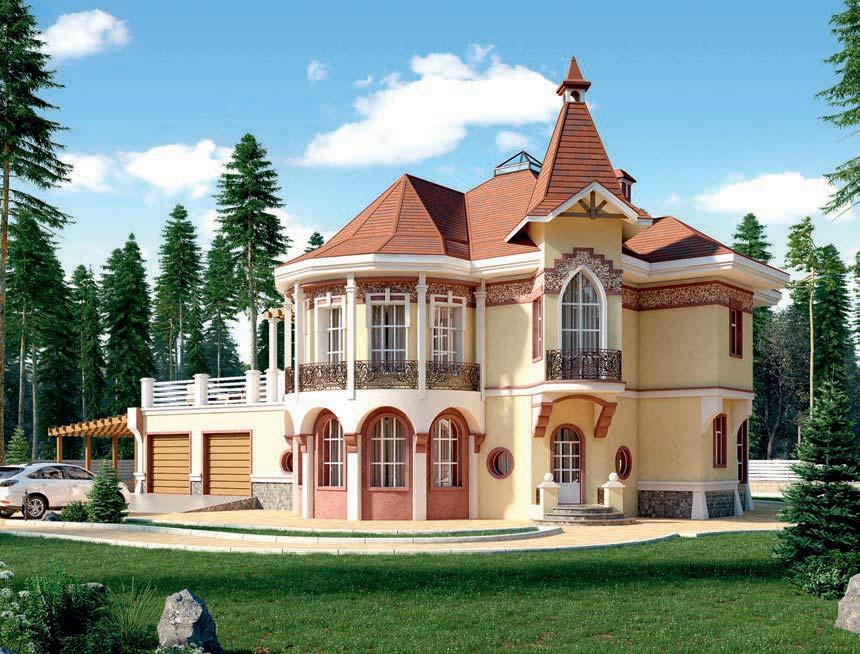 проект дома из газобетона AS-2298 строительство под ключ за 5 250 000 рублей