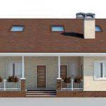 проект дома AS-2299 вид спереди
