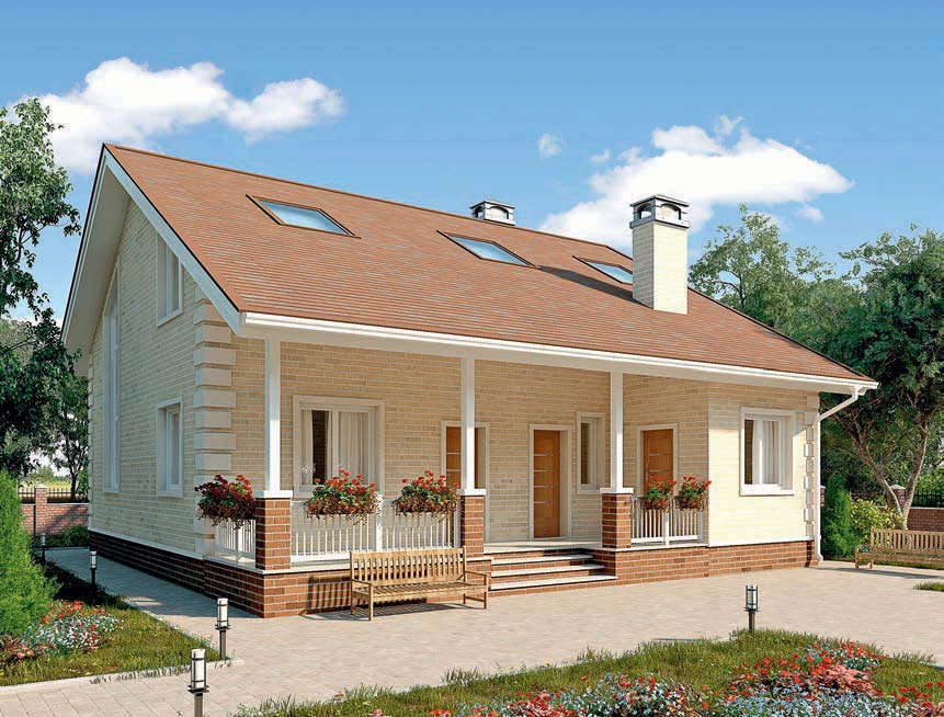 проект дома из газобетона AS-2299 строительство под ключ за 2 340 000 рублей