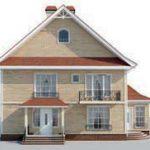 проект дома AS-2305 вид сзади