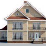 проект дома AS-2305 вид спереди