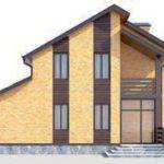 проект дома AS-272-3 вид сзади