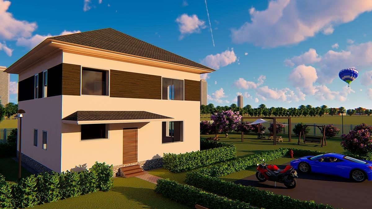 проект дома из газобетона Индивидуальный строительство под ключ за 3 499 000 рублей