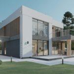 проект дома Джеймс Бонд вид спереди
