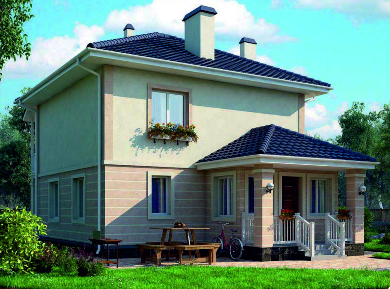проект дома из газобетона JB-2075 строительство под ключ за 24900 р./м2 <br>итого 1 904 850 руб.  рублей