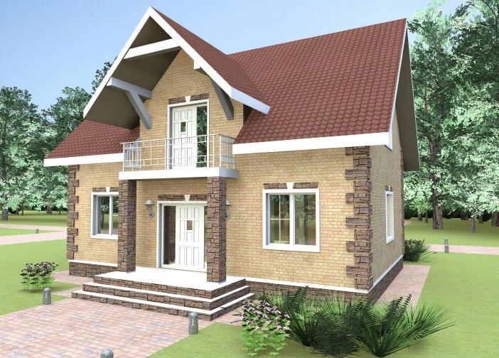 проект дома из газобетона JB 1-258 строительство под ключ за 24900 р./м2<br> итого 3 012 000 руб.  рублей