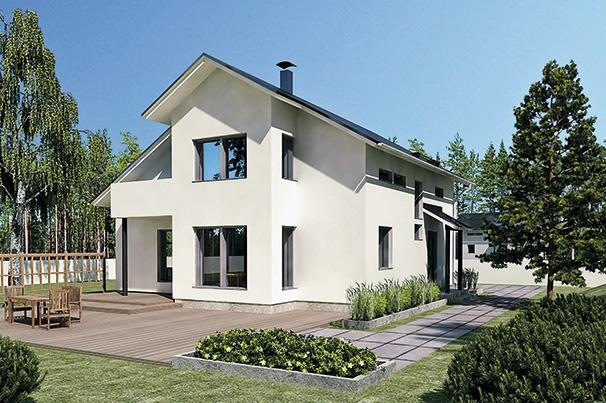 проект дома из газобетона JB-286 строительство под ключ за 35000 р./м2 <br>итого 3 112 500 рублей