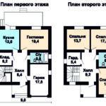 планировка первого и второго этажа