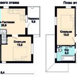 планировки первого и второго этажей