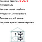 проект дома JB-2075 вид спереди