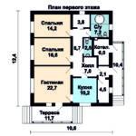 проект дома JB 1-538 вид спереди